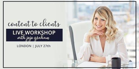 Content 2 Clients Workshop tickets