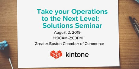Take Your Operations to the Next Level: Solutions Seminar tickets