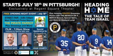 Heading Home to Pittsburgh: Pirates celebrate Jewish community tickets