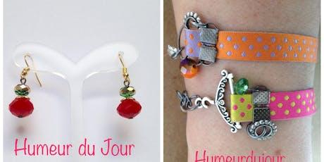 Fabrication de boucles d'oreilles et bracelets billets