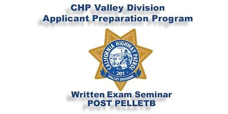 California Highway Patrol - Valley Division Applicant Preparation Program (APP) Written Exam Seminar  tickets