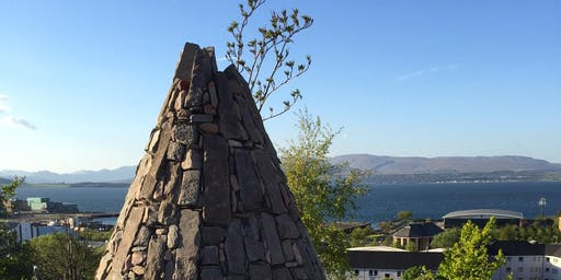 Dry stone walling in Greenock