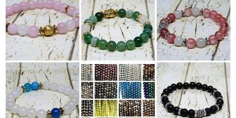 Création d'un bracelet en pierres naturelles billets