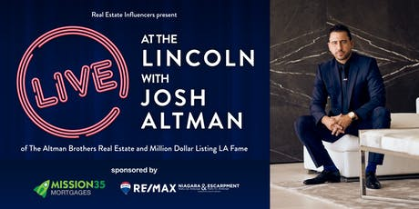 Live at the Lincoln with Josh Altman tickets
