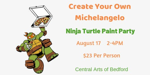 Create Your Own Michelangelo: Ninja Turtle Paint Party