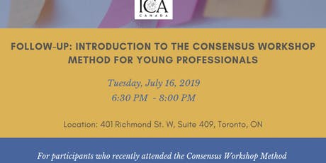 Follow-up session: Introduction to the Consensus Workshop Method for Young Professionals tickets