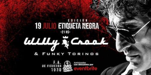 VIE 19/07 Willy Crook en El Emergente Almagro, 21hs