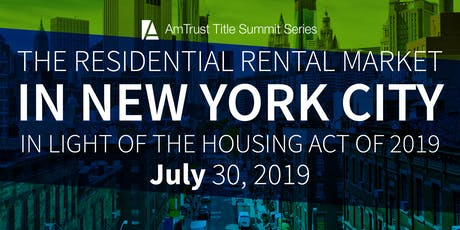 2019 NYC Rent Regulations Summit tickets