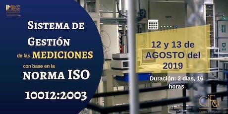 SISTEMA DE GESTIÓN DE LAS MEDICIONES CON BASE EN LA NORMA ISO 10012:2003 entradas