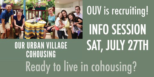 Our Urban Village Info Session