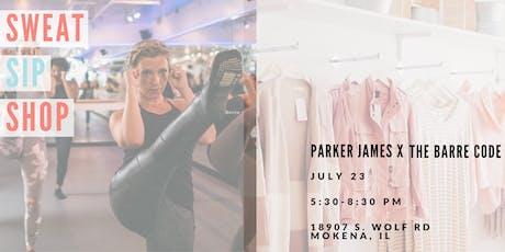 Sweat, Sip & Shop: Parker James x The Barre Code tickets