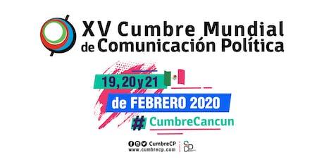 XV Cumbre Mundial de Comunicación Política boletos