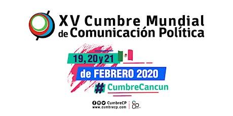 XV Cumbre Mundial de Comunicación Política entradas