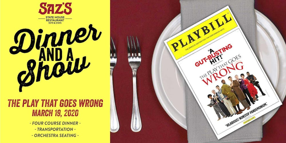 2020 Shred Events Wisconson.Saz S Dinner And A Show The Play That Goes Wrong