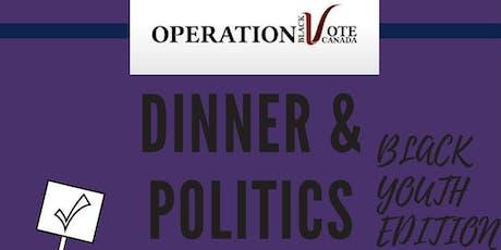 Dinner & Politics - Black Youth Hamilton Edition tickets