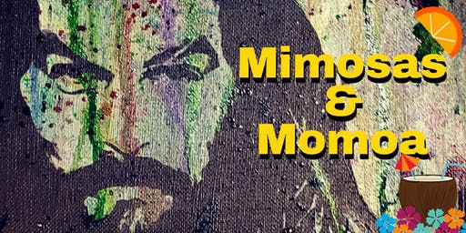 Mimosas and Momoa paint workshop