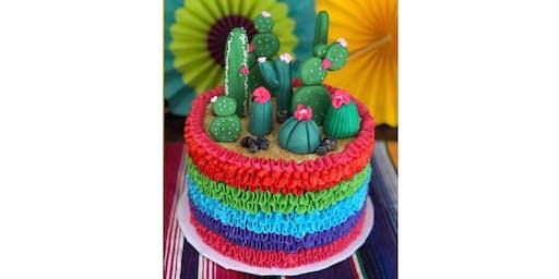 Cactus Fiesta Cake decorating class