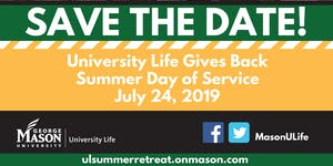 2019 University Life Summer Day of Service