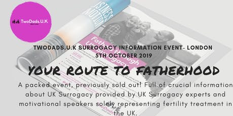 UK Surrogacy Event - Your route to Fatherhood tickets