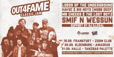 Out4Fame Classic Jam w/ Lords Of The Underground, Mobb Deep, Lost Boyz, Smif N Wessun - Halle (Saale) - 21.09.19 - Tanzbar Palette