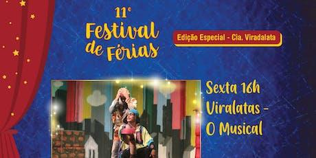 50% de Desconto para Festival de Férias no Teatro Viradalata: Viralatas ingressos