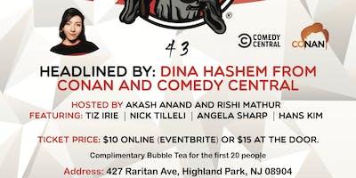 Dina Hashem(From Conan, Comedy Central) headlines Bubble Tea Comedy Show