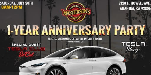 Special Guest: Tesla Club-SoCal at Masterson's Anniversary Party!!