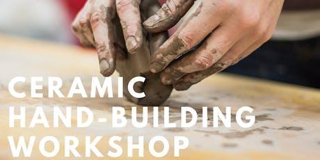 Ceramic Hand-building Beginners Workshop (AU$75) tickets