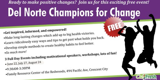 Del Norte Champions for Change Summit July 27, 2019