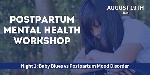 Baby Blues vs Postpartum Mood Disorder Workshop