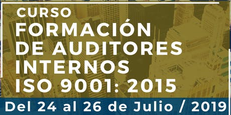 Curso Formación de Auditores Internos ISO 9001:2015 entradas