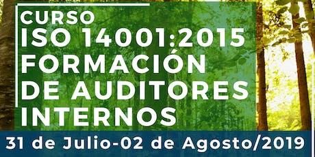Curso ISO 14001:2015 Formación de Auditores Internos entradas