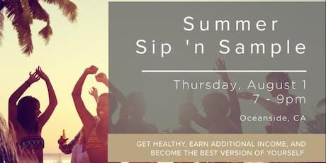 Summer Sip 'n Sample tickets