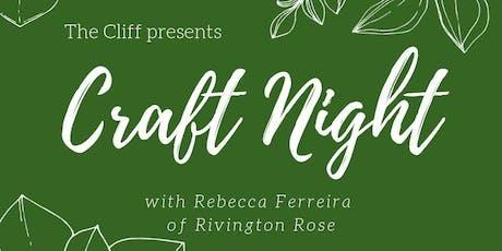 Felt Succulents with Rivington Rose tickets