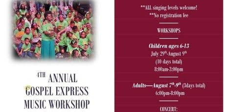 4th Annual Gospel Express Music Workshop Rehearsal for Kids tickets