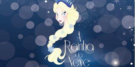 """Mais de 50% de Desconto! Espetáculo """"A Rainha da Neve"""" no Festival de Férias do Teatro Jardim Sul ingressos"""