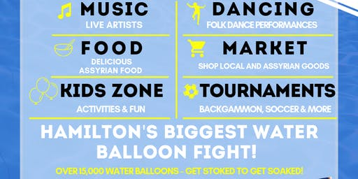 Hamilton's Biggest Water Balloon Fight! Over 15,000 Water Balloons!