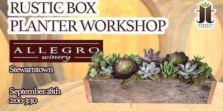 Rustic Succulent Box at Allegro Wine Cellars - Stewartstown tickets