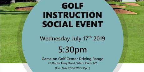 Golf Instruction Social Event tickets