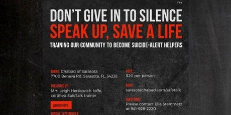 Speak Up, Save a Life: Suicide Prevention Training tickets