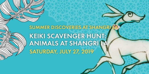 Keiki Scavenger Hunt: Animals at Shangri La