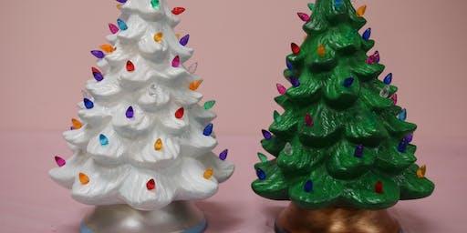 """13"""" Lighted Christmas Tree     -     BYOB"""