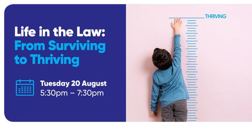 Alumni event: Life in the Law – from Surviving to Thriving
