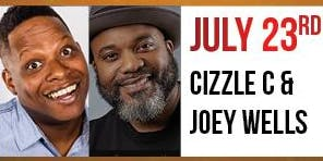 Cizzle C & Joey Wells at J Anthony Brown's 'I Got $5 On It' Comedy Show