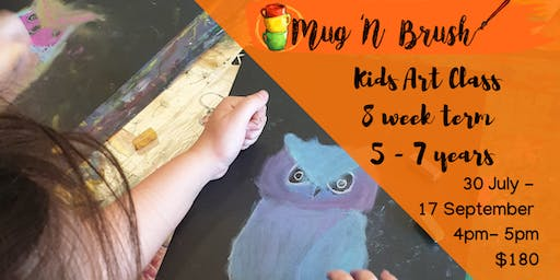 5-7 Year Old Art Term 30 July - 17 September