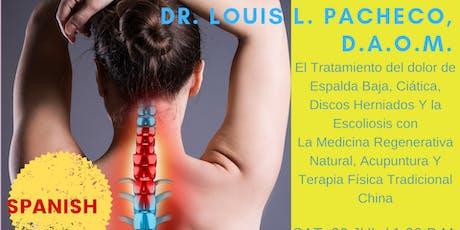 Aprenda como restaurar la salud de espalda baja Y líbrese dolores crónicos tickets