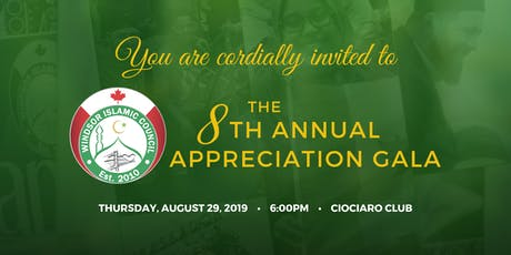 Windsor Islamic Council (WIC) Annual Appreciation Gala 2019 tickets
