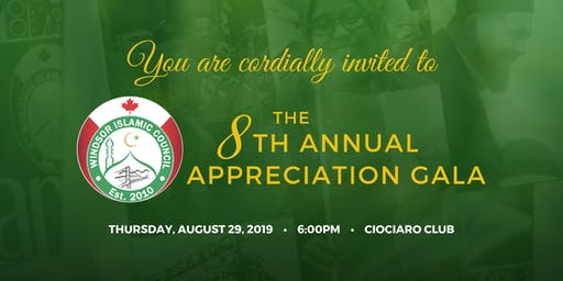 Windsor Islamic Council (WIC) Annual Appreciation Gala 2019
