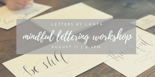 Mindful Hand Lettering Workshop