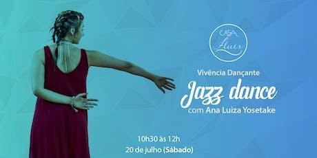 Vivência em Jazz Dance com Ana Luiza Yosetake ingressos
